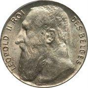 50 centimes - Léopold II - type lion assis (légende en français) – avers