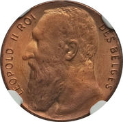 50 centimes - Léopold II (Essai) – avers