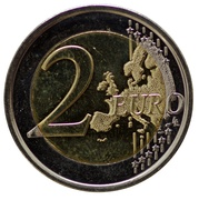 2 euros Université de Liège -  revers