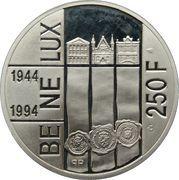 250 francs - Albert II - 50 ans du BENELUX – revers