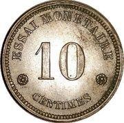 10 Centimes - Léopold I (Essai) – revers