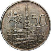 50 francs - Baudouin - Expo 1958 (en français) – revers