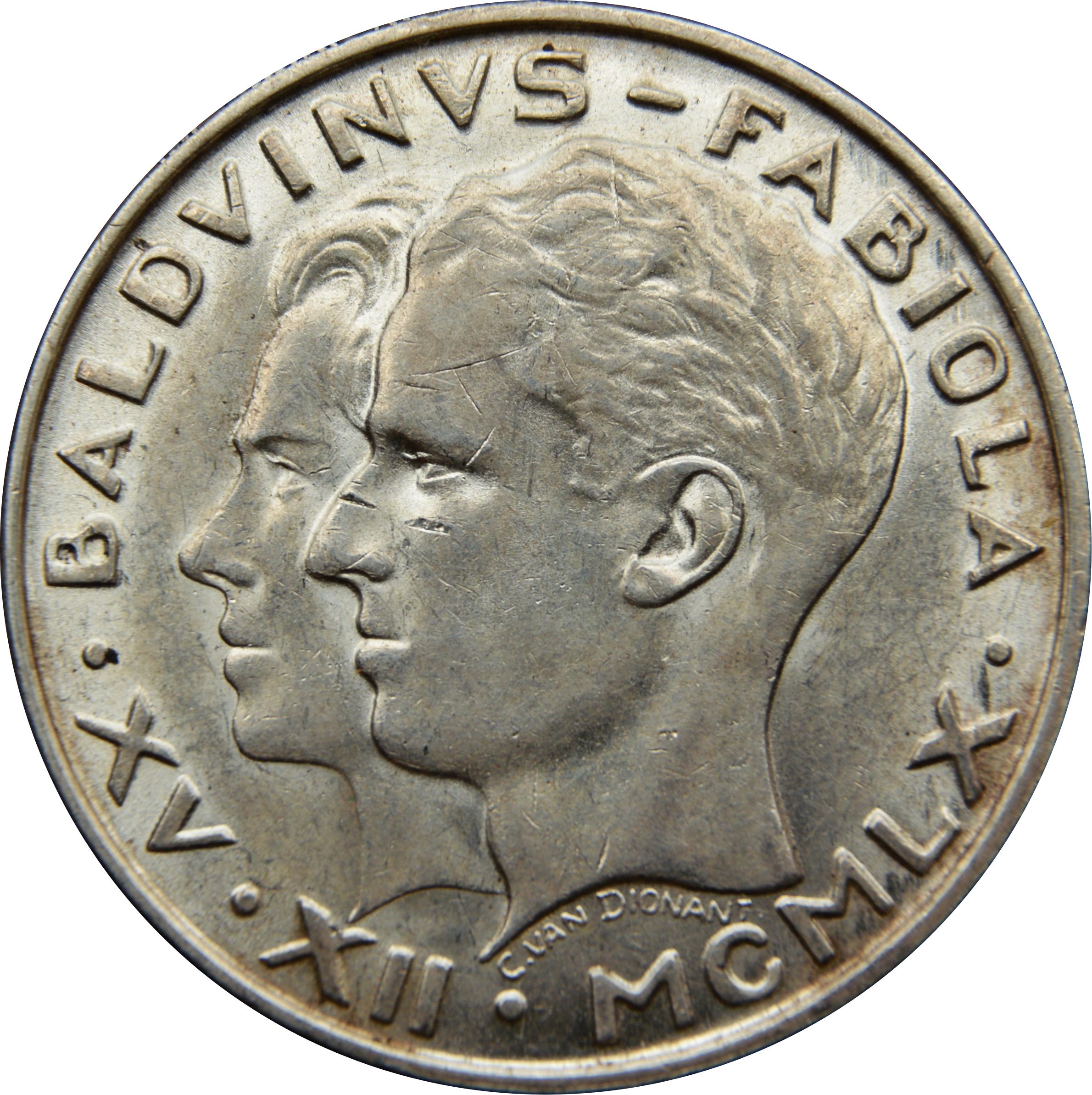 50 francs - Baudouin - mariage du roi Baudouin et de la reine Fabiola 779d2bc87452