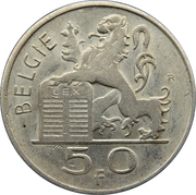 50 francs - Prince Charles - type Mercure (en néerlandais) – revers