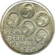 500 francs - 150 ans de l'indépendance de la Belgique (avers en français et revers en néerlandais) – avers