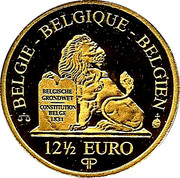 12½ euros Roi Léopold Ier – revers