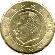 20 cents d'euro Albert II (1ère carte, 1er type, 1ère effigie) -  avers
