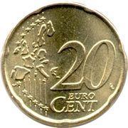 20 cents d'euro Albert II (1ère carte, 1er type, 1ère effigie) -  revers