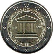 2 euros Université de Gand -  avers