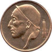 50 centimes - type Mineur (petite/très grande tête, en néerlandais) -  avers