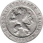 5 centimes - Léopold II - lion normal (en néerlandais) – avers
