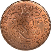 10 centimes - Léopold Ier – avers