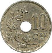 10 centimes - Albert Ier - type Michaux (en néerlandais) -  revers