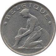 2 francs - Albert Ier - type Bonnetain (en français) -  avers