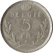 5 francs - Léopold III (en néerlandais) -  revers