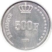 500 francs - 60ème anniversaire du Roi Baudouin (en français) – revers