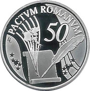 10 euros Traité de Rome – revers