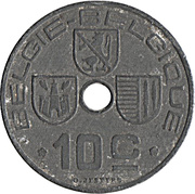 10 centimes - Léopold III - type Jespers (Belgie Belgique) -  revers