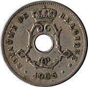 5 centimes - Léopold II - type Michaux (en français, grande date) -  avers
