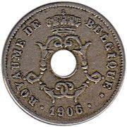 10 centimes - Léopold II - type Michaux (en français, grande date) -  avers