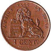 1 centime - Léopold Ier – revers
