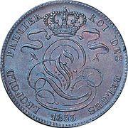 5 centimes - Léopold Ier -  avers