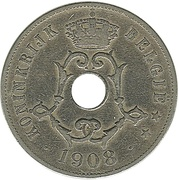 25 centimes - Léopold II - type Michaux (en néerlandais) -  avers