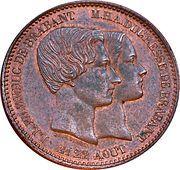 10 centimes  - Léopold I (mariage du Duc et duchesse de Brabant) – revers