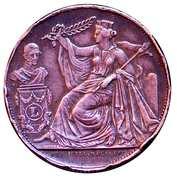 Module de 5 centimes - 25e Anniversaire de l'inauguration du Roi Léopold Ier (Français) – avers