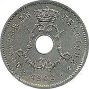 5 centimes - Leopold II - type Michaux en français (petite date) – avers