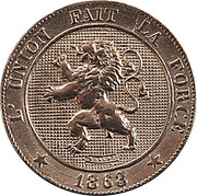 5 centimes - Léopold Ier (cupronickel) -  avers