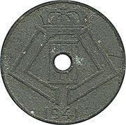 5 centimes - Léopold III - type Jespers (Belgique-Belgie) -  avers