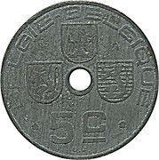 5 centimes - Léopold III - type Jespers (Belgie-Belgique) – avers