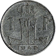 1 franc - Léopold III - type Rau (België-Belgique) -  revers