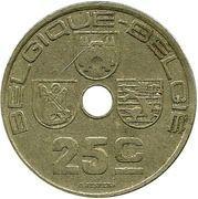 25 centimes - Léopold III (Belgique-Belgie) -  revers