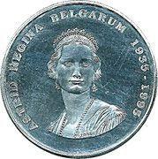 250 francs - Albert II - 60 ème anniversaire de la mort de la reine Astrid – avers