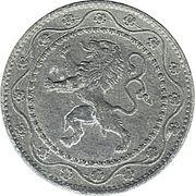 25 centimes - Albert Ier - Occupation -  avers