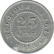 25 centimes - Albert Ier - Occupation -  revers