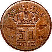50 centimes - type Mineur (grande tête, en français) -  revers