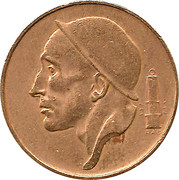 50 centimes - type Mineur (grande tête, en néerlandais) -  avers