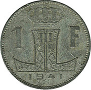1 franc - Léopold III - type Rau (Belgique-België) -  revers