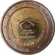 2 euros Droits de l'homme -  avers
