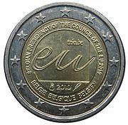 2 euros Présidence de l'UE -  avers