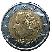 2 euros Albert II (2e carte, 2e type, 2e effigie) -  avers