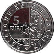 5 euros Spirou (colorée) -  avers