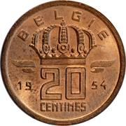 20 centimes - type Mineur (en néerlandais) -  revers