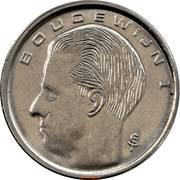1 franc - Baudouin Ier (en néerlandais) -  avers