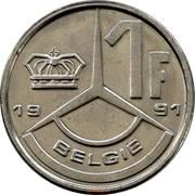 1 franc - Baudouin Ier (en néerlandais) -  revers