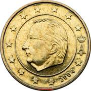 10 cents d'euro Albert II (1ère carte, 1er type, 1ère effigie) -  avers