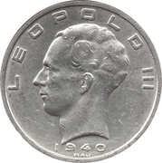 50 francs - Léopold III (Belgie-Belgique) – avers